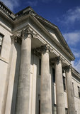 A close view of the front facade of Castle Coole