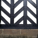 A detailed close up of the diagonal quarters used at Speke Hall