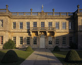 A close up of the West Front of Dyrham Park on a beautiful Autumn's day
