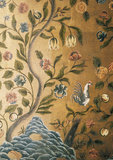 "Detail of ""Cordoba"" leather in the Dining Room at Batemans"