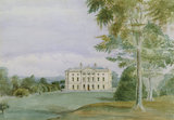 CASTLE WARD BY MARY WARD 1864 Watercolour in the Boudoir at Castle Ward