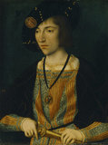 A YOUNG MAN by Master of the Magdalen Legend, active late 15th and early 16th century