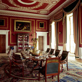 The Dining Room showing the suite of dining chairs by Gillows