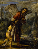 TOBIAS AND THE ANGEL by Adam Elsheimer (c1578-1610) from Petworth House