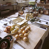 Close-up of a work station in the Kitchen at Petworth