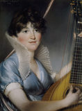 MRS JORDAN (1801) by John Russell (1745-1806) pastel portrait from Fenton House, Hampstead
