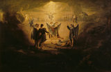 JACOB'S DREAM (exh. 1819) by Washington Allston (1779-1843)
