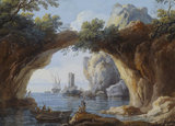ROCK ARCH IN SEASCAPE by Giovanni Battista Busiri from the Cabinet at Felbrigg Hall