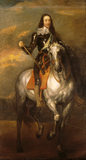 CHARLES I ON HORSEBACK (1600-1649), Studio of Anthony Van Dyck (1599-1641)
