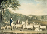 THOMAS WILLIAM COKE M.P. FOR NORFOLK INSPECTING SHEEP by Thomas Weaver (1774-1843)