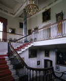 The Grand Staircase at Chirk Castle showing the upper landing and lantern
