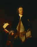 PAUL OURRY (1719-1793) by Sir Joshua Reynolds (1723 - 1792) at Saltram