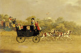 THE LONDON-WINDSOR COACH', an engraving dated 1827, by William Heath (1795-1840)