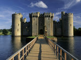 A view across the bridge to the Gatehouse of Bodiam Castle
