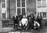 Male servants at Petworth, West Sussex, a photograph taken in the 1870s