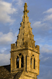 Spire of the fourteenth-century All Saints Church which is next-door to Great Chalfield Manor, Wiltshire