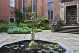 The fountain and pool in the Inner Courtyard at Dunham Massey, Cheshire