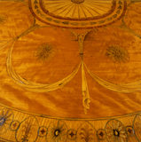 Marquetry top of a semi circular side table at Belton House, from Wyatts period