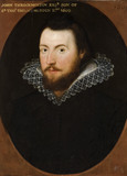 JOHN THROCKMORTON, English, 1609, on The Staircase at Coughton Court, Warwickshire