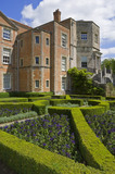 The south front of Mottisfont Abbey near Romsey, Hampshire with the parterre garden