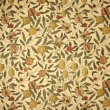 Detail of William Morris Pomegranate wallpaper from the Yellow Bedroom