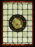 Chaucer painted glass, designed by Burne-Jones for Morris & Co
