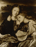 SISTERS by GF Watts (1817-1904) of Ellen Terry and her sister Kate from the Terry Room at Smallhythe Place