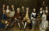 FAMILY OF SIR JOHN AND LADY CUST by Enoch Seeman at Belton The widowed Anne Cust (1694-1779) sits surrounded by her children