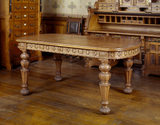 An Elizabethan oak table supplied by Gillows, in the Organ Room at Tyntesfield