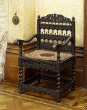 An ebony 'Tudor' chair that orginally stood in the entrance hall at Charlton, now at Tyntesfield