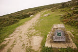 A pathway leading past The National Trust omega at St David's Head, Pembrokeshire