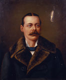 LORD RANDOLPH CHURCHILL , by an unknown artist, at Chartwell