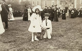 Early photograph of Lady Jane Grey and Roger Lord Grey of Groby at a garden party 1906