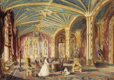 THE HALL, ELVASTON CASTLE, DERBYSHIRE' by Rebecca Dulcibella Orpen, (1830-1923) one of a series of country house watercolours exhibited at Baddesley Clinton.