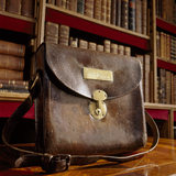 Leather post bag in the Library at Florence Court
