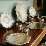 Partial view of a sideboard with a selection of silverware
