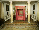 The State Bedroom at Blickling showing bed with red hangings and carpet