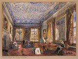THE MORNING ROOM AT SOMERTON ERLEIGH, Colonel PINNEY'S, 1863, by Dulcibella Orpen at Baddesley Clinton