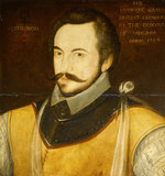 PORTRAIT OF SIR HUMPHREY GILBERT, c.1584 at Compton Castle.