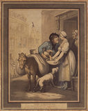 "CRIES OF LONDON, NO.4, by Rowlandson (""Do you want any brick dust""), 1799"