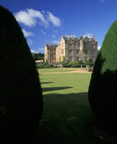 Montacute House viewed from the south east through the Irish yews