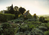 View of The Vegetable Garden and the end of Alfriston Clergy House, photographed at dawn