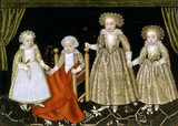 CONSTANCE (5years), MARGARET (3 years), ROBERT (2 years) AND RICHARD (1 year) - THE CHILDREN OF SIR THOMAS LUCY AND ALICE SPENCER, 1619, 17th century English, Anon