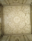 A view of the ceiling in the Marble Hall at Clandon Park