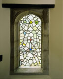 An 'Art Nouveau' stained glass window on the Staircase at Stoneacre