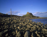 Lindisfarne Castle photographed from the beach