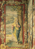 A detail from the Mortlake Tapestry at Blickling Hall in the Ante Room showing Sara from the life of Abraham