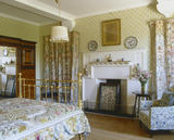 North Bedroom, looking towards the fireplace, at Standen, West Sussex