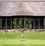 Close up view of summer house in Chirk Castle garden