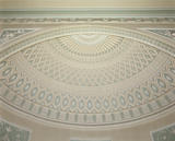 The ceiling in the Top Hall at Nostell Priory by Robert Adam